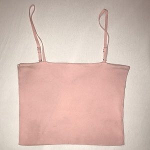 Pink Ribbed Seek Tank Top LF
